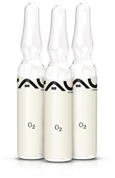 RAU O2 Ampullen 3 Stück x 2 ml - Schönheitskonzentrat für den ultimativen Frische-Effekt