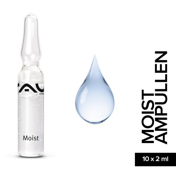 RAU Moist Ampullen 10 x 2 ml Hautpflege Gesichtspflege Naturkosmetik Onlineshop