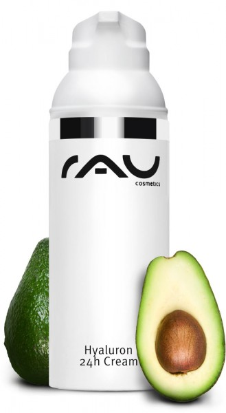 RAU Hyaluron 24h Cream 50 ml - Creme mit Hyaluronsäure, Sheabutter, Avocadoöl & Squalane