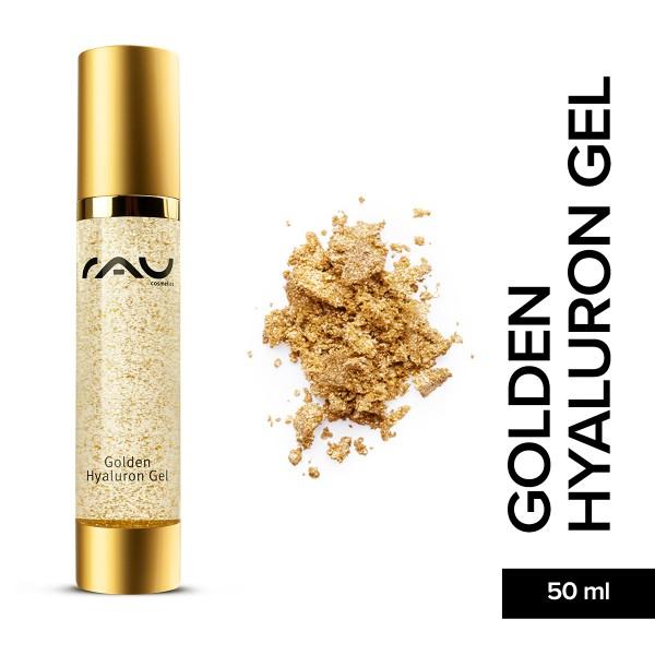 RAU Golden Hyaluron Gel 50 ml Anti Aging Hyaluronsäure Onlineshop Naturkosmetik Hautpflege