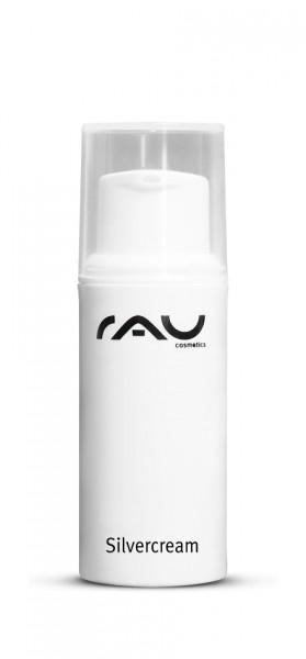 RAU Silvercream 5 ml - Spezialcreme für unreine Haut mit Microsilber, Zink, Urea & Salbei