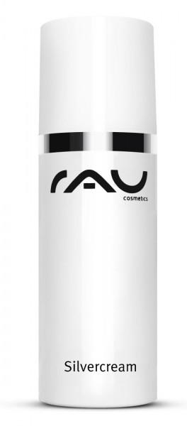 RAU Silvercream 50 ml - Gesichtscreme für unreine Haut mit Microsilber, Zink, Urea & Salbei