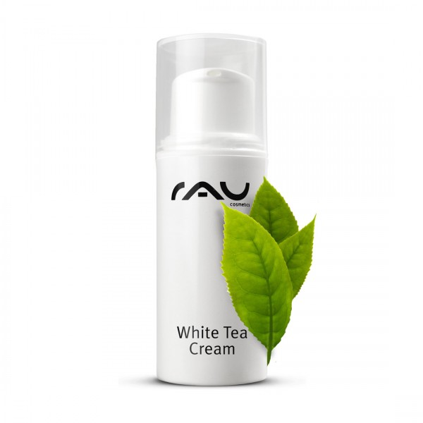 RAU White Tea Cream 5 ml AIRLESS - zarte Anti Aging 24h Creme mit Weißem Tee, Aloe Vera