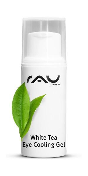 RAU White Tea Eye Cooling Gel 8 ml - zarte Anti-Aging Pflege für die Augenpartie mit weißem Tee