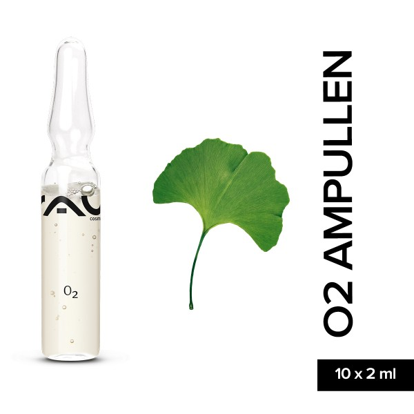 RAU O2 Ampullen 10 x 2 ml Hautpflege Gesichtspflege Naturkosmetik Onlineshop