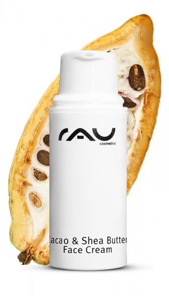 RAU Cacao & Shea Butter Face Cream 5 ml - mit Sheabutter, Kakaobutter  & Reiskeimöl