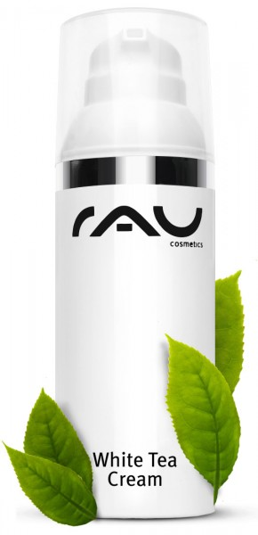 RAU White Tea Cream 50 ml AIRLESS - zarte Anti Aging 24h Creme mit Weissem Tee, Aloe Vera