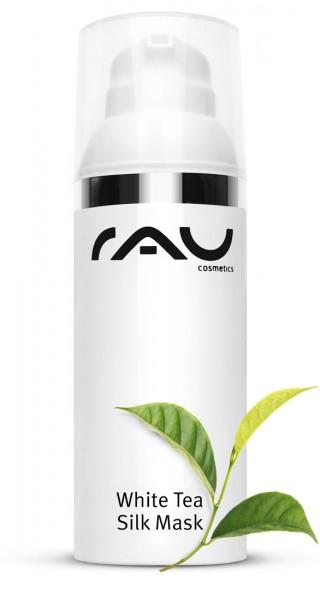 RAU White Tea Silk Mask 50 ml - Maske mit Seidenproteinen, Sheabutter, Weisser Tee und Naturölen