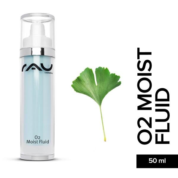 RAU O2 Moist Fluid 50 ml Hyaluronsäure Hautpflege Gesichtspflege Naturkosmetik Onlineshop