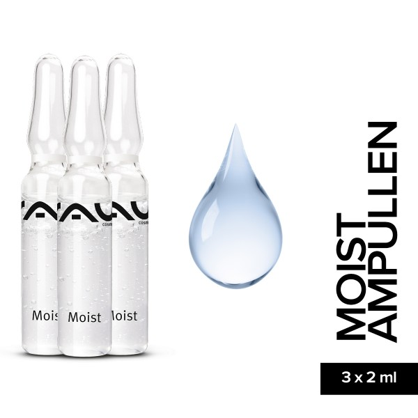 RAU Moist Ampullen 3 x 2 ml Feuchtigkeit Hautpflege Naturkosmetik Onlineshop Gesichtspflege