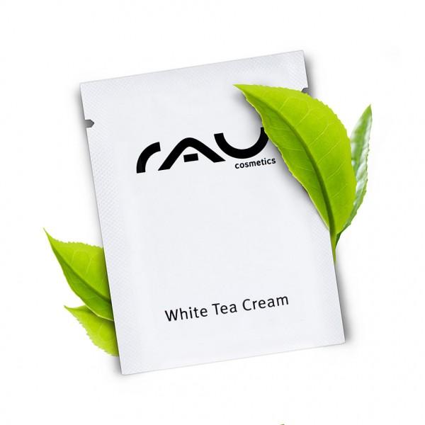 RAU White Tea Cream 1,5 ml - zarte Anti Aging 24h Creme mit Weißem Tee, Aloe Vera