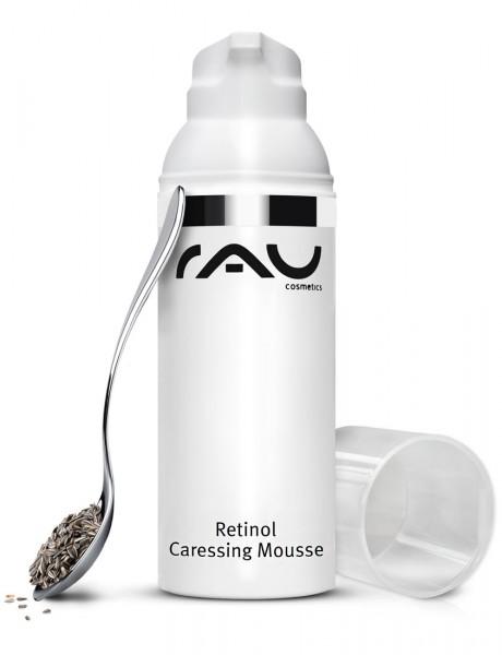 RAU Retinol Caressing Mousse 50 ml AIRLESS - mit wertvollen Pflanzenölen, Retinol und Tripeptide-5