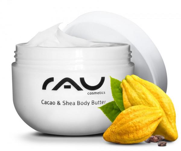 reichhaltige Bodybutter mit Kakaobutter, Shea Butter, Jojobaöl & Weißem Tee