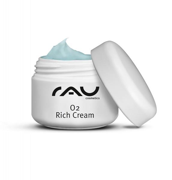 RAU O2 Rich Cream 5 ml - Reichhaltige Creme mit Aloe Vera, Ginkgo & Sonnenblumenöl