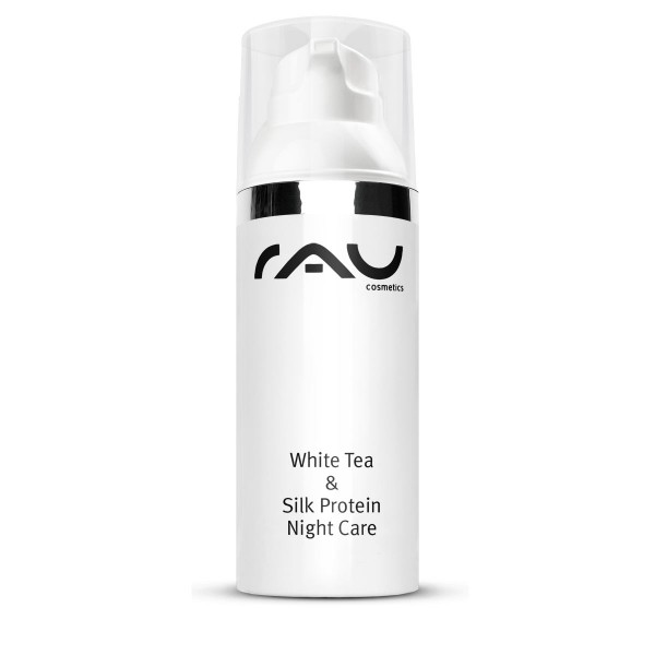 RAU White Tea & Silk Protein Night Care 50 ml - mit Seidenproteinen, Weißem Tee & Sheabutter