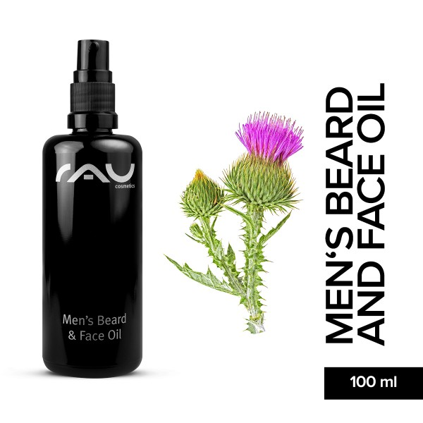 RAU Men's Beard And Face Oil 100 ml pflegendes Öl Bartöl Gesichtspflege Naturkosmetik Onlineshop
