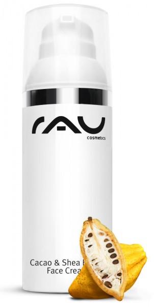 RAU Cacao & Shea Butter Face Cream 50 ml - mit Sheabutter, Kakaobutter & Reiskeimöl