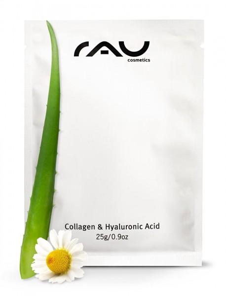 Aloe Vera, Collagen und Hyaluronsäure Vliesmaske mit Hyaluron, Aloe Vera, Collagen, Allantoin, Panthenol & Kamille