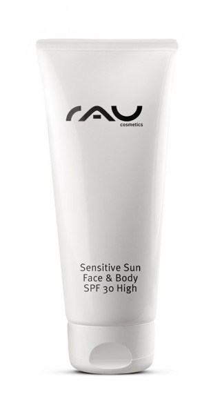 RAU Sensitive Sun Face & Body SPF 30 - 200 ml - pflegende Sonnenschutzcreme mit Vitamin E